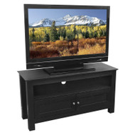 44-inch Flat Screen TV Stand in Black Wood Grain Finish WE44CWTV1490