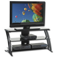 Black Modern Flat Screen Panel TV Stand / Entertainment Center CYSTVS1191