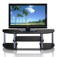 Contemporary Grey and Black TV Stand - Fits up to 42-inch TV GBTVS519815