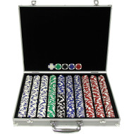 1,000 Piece Texas Hold'em Poker Chip Set OS09856958698