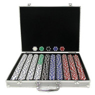 1000 Chip Poker Set with Aluminum Case AT1000GDP1
