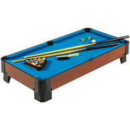 40-inch Pool Table with Blue Felt Surface 2 Cues and Billiard Balls HSPTB8082