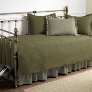 Twin size 5-Piece Daybed Cover Set in Aloe Green 100% Cotton AGQS51985617