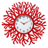 Red Coral Reef Modern Wall Clock Ocean Beach Theme - 22-inch Diameter RWC103651