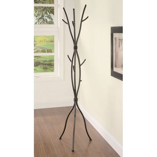 Metal Tree Branch Style Coat Rack with Multiple Hooks in Brown CTBCR5802