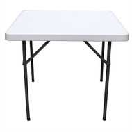 Square 36-inch Folding Table with Gray HDPE Plastic Top MFTS442561