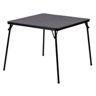 Black Multi-Purpose Folding Table - Great for Playing Card Games or Poker Table FBT369815