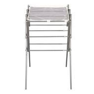 Expandable Indoor Clothes Laundry Drying Rack in Silver Metal EDR35415