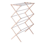Folding Wood Cloths Laundry Drying Rack HEFDR2543