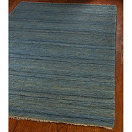 Hand-knotted All-Natural Oceans Blue Hemp Rug (5' x 8') HKANOBHR5X8