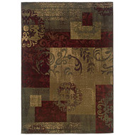 Dark Green Geometric Floral Stylish Area Rug (8'2 x 10') GGR82X10