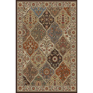 Ivory Abstract Area Rug (7'6 x 9'10) IAAR76X910