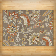 3'3-inch x 5'2-inch Tufted Cotton Area Rug w/ Yellow/Orange/Beige/Brown Floral NR51984564