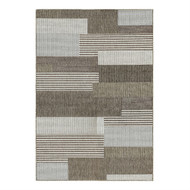 5'x x 7'6 Brown Sand Modern Geometric Stripe Area Rug CMSR9901523