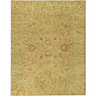 Handmade Majesty Light Brown/ Beige Wool Rug (9'6 x 13'6) HMLBBWR96136