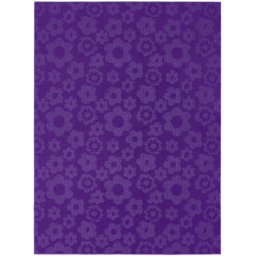 5' x 7' Purple Area Rug with Floral Flowers Pattern - Made in USA G5X7P3897