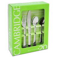 20 Pc Flatware Set, Codie Mirror 31520OPL