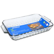 Glass 3 Qt Sculpted Baking Dish 10443