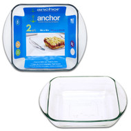 "Glass 8X8"" Baking Dish, Clr, Blue Label 67522L13"