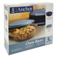 3 Pc 2 Qt Oven Basics Tote Set 82460OBL