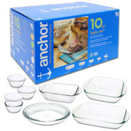 10 Pc Glass Bakeware Set 92064L11