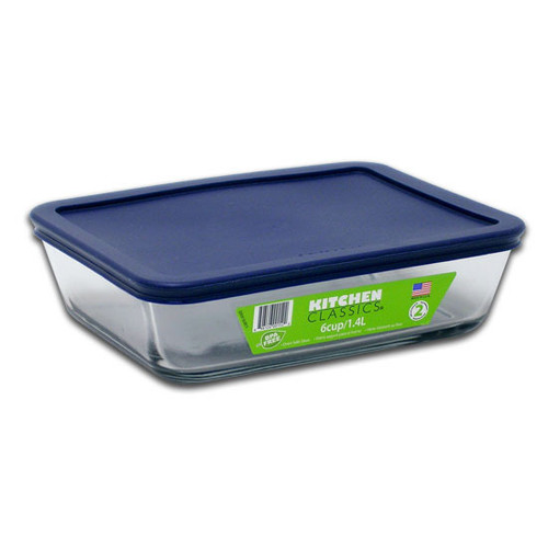 6 Cup Rectangular With Cover 85913