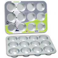 "13X9.5"" Aluminum Muffin Pan, 12 Cup, Professional Bakeware 4550"