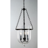Glass Lantern Chandelier in Antique Copper Finish ACFGLC651
