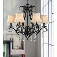 Black Iron 6-light Crystal Chandelier BI6LC166991