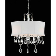 3-Light Chrome Crystal Chandelier with Fabric Shade C3LC6548