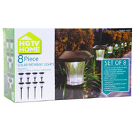 8-Piece Outdoor Pathway Solar Lights with Rechargeable Batteries HPSL574784
