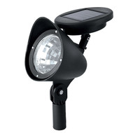 8 Pack - Solar Powered Outdoor LED Spot Light in Black PLEDS415315