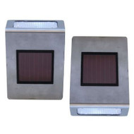 Pack of 2 Stainless Steel Wall Mounted Solar LED Lights TSSWMS3091