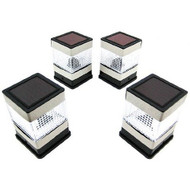 Set of 4 Solar Powered Deck or Post Cap LED Lights SO4FPL691