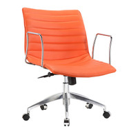 Orange Modern Mid-Back Office Chair Mid-Century Style with Metal Arms OMBC519841