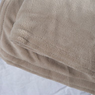 Queen size Soft Beige Linen Microplush Electric Blanket with Digital Controller QTLBD5819815