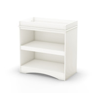 White Wood Baby Furniture Changing Table with Open Storage Space SPCT9784