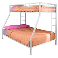 White Metal Twin over Full Bunk Bed WETOFB1991