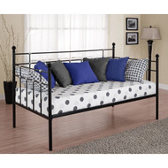 Twin size Metal Daybed in Black Finish JDBT129