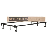 Heavy Duty 6-Leg Twin / Full Metal Bed Frame with Rug Rollers SHD6LBFTF5641