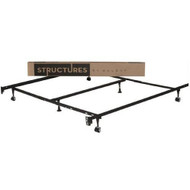 Heavy Duty 6-Leg Metal Bed Frame/ Adjust to fit Twin Full Queen King SMHD6LLAMBF