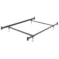 Full size Metal Bed Frame with Hook-on Headboard and Footboard Brackets FMBHO5196815