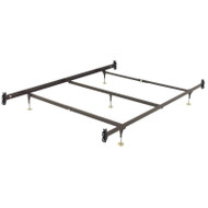 Queen size Metal Bed Frame with Hook-On Headboard Footboard Brackets QHOMB581841