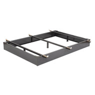 CA King size Metal Bed Base - Hospitality Hotel Style Bed Frame CAKMBB5181
