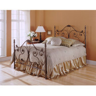Queen size Metal Bed with Headboard and Footboard in Majestic Finish FBGAB37693