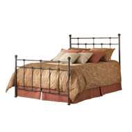 Queen size Metal Bed with Headboard and Footboard in Hammered Brown FBGDBQ272