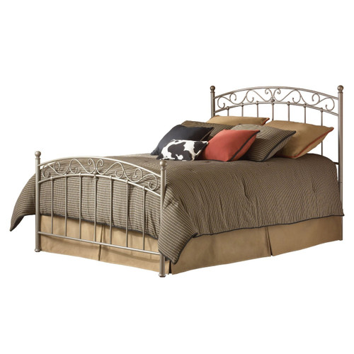 Full size Metal Bed with Gentle Arch Headboard and Footboard FBGEBF249