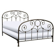 Queen size Metal Bed with Headboard and Footboard in Rusty Gold Finish FBGQG25242