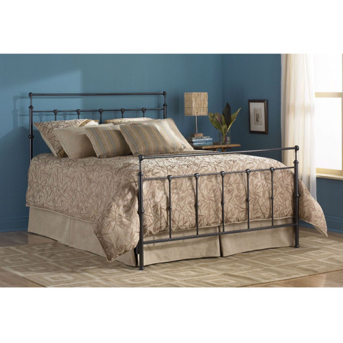 Full size Simple Stylish Metal Bed in Mahogany Gold Finish FBGWBMG244