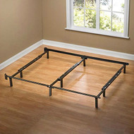 Full to King size 9-Leg Adjustable Metal Bed Frame with Headboard Brackets KMBF519816
